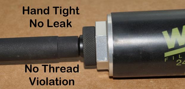 3/4 NPT adapter mounted