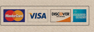 credit and debit cards welcome